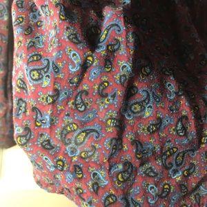 Zara | Trafaluc Paisley Pattern Long Sleeve Shirt